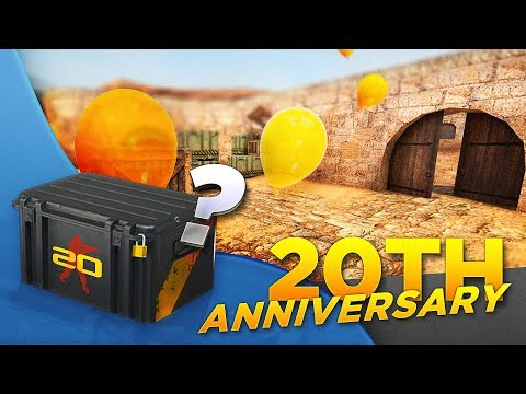 20th anniversary! 1.6 dust2, AUG nerf, new case.