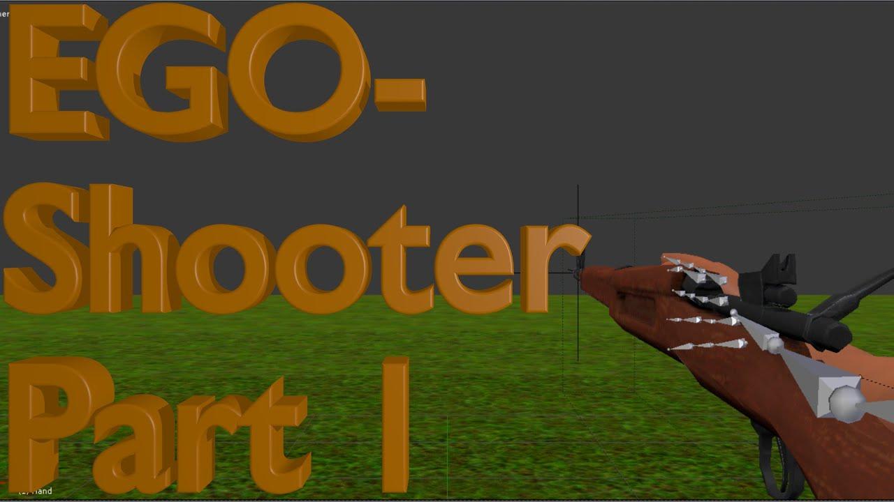 Blender Tutorial - EGO Shooter Part 1 - Blender Game Engine 3d Tutorial