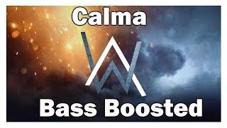 Bass Boosted   Calma (Alan Walker Remix)
