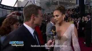 Jennifer Lopez OSCARS Interview on Access Hollywood 2012