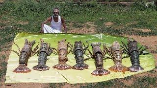 Classic!!! LOBSTER Indian masala prepared by my daddy Arumugam / Village food factory