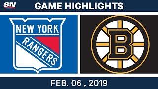 NHL Highlights | Bruins vs. Rangers - Feb. 6, 2019