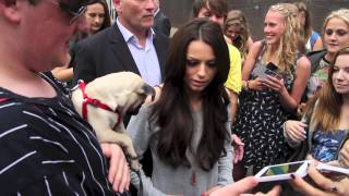 Шер Ллойд, Cher Lloyd shakes hands with dog