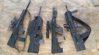 Best Of The Bullpups? Bushmaster M17S, FN FS2000, Steyr AUG A3, & IWI X95 Tavor Comparison