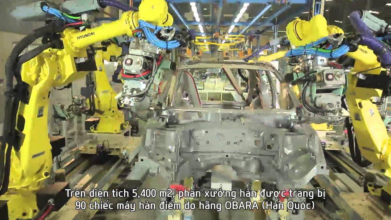 Dây chuyền Hàn nhà máy Hyundai Thành Công