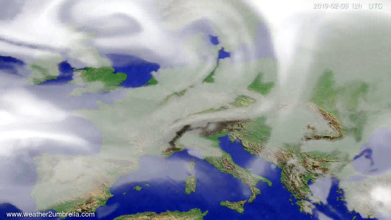Cloud forecast Europe 2019-02-07