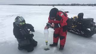 Feb 6 Ice Report Cooks Bay