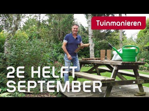 Wat doe je in de tuin in de 2e helft van september