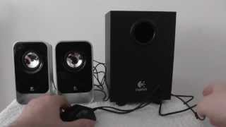 Logitech LS21 2.1 Stereo Speaker System : a quick look