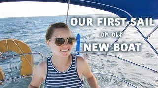 Our First Sail on Our New Boat! - Sailing ShaggySeas Ep. 5