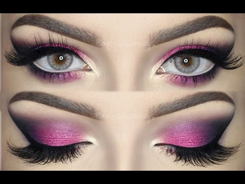 Pink, Violet And Black Smokey Eye Bright & Colorful Makeup TUTORIAL