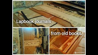 Lapbook Journals From Old Books + Tutorial Part1