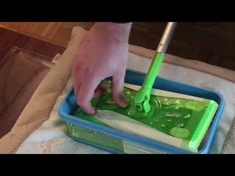 einhandblog: Hausputz mit einer Hand - einhändig Boden wischen mit Swiffer Bodenwischer