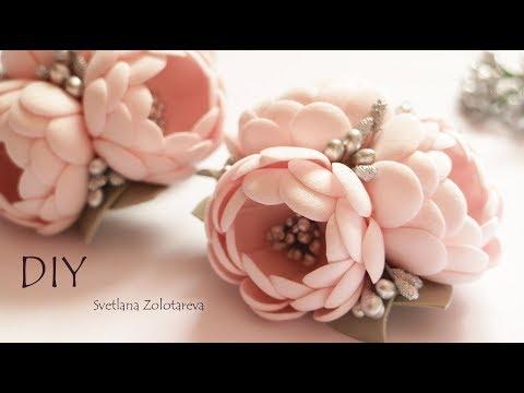 Цветы из фоамирана Украшение для волос Рукоделие  Повязка Заколка
