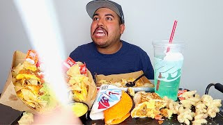 Nick screaming at me to eat his leftovers... Mukbang
