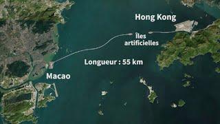 Pont géant entre Hong Kong et Macao