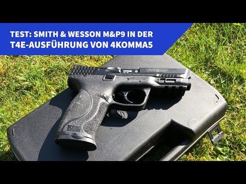 4komma5: Test: Smith & Wesson M&P9 in der T4E-Ausführung von 4komma5 − High-End-Trainingswaffe out of the box