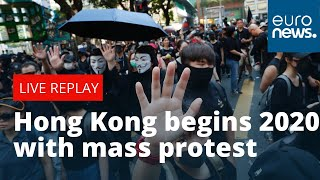 LIVE | Hong Kong begins 2020 with mass protest.