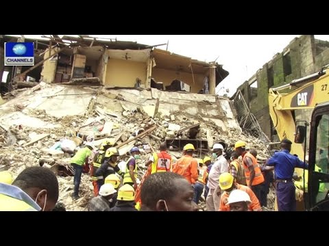 5 People Rescued So Far From Lagos Collapsed Building -- 21/10/15