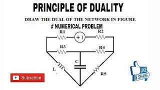 11. PRINCIPLE OF  DUALITY NUMERICAL PROBLEM ||BASIC CONCEPTS  OF DUALITY NETWORK ||