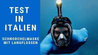 #Khroom Seaview X Schnorchelmaske / Tauchmaske im Test in Italien Positano. Vollmaske Schnorcheln