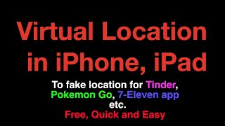 Virtual Location (change system location)/ spoof location in iPhone, iPad