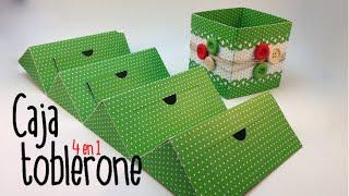CAJA TOBLERONE - 4 TRIANGULOS 1 CAJA  (TRIANGLE GIFT BOX)