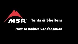 Vidéo Comment prévenir la condensation dans une tente