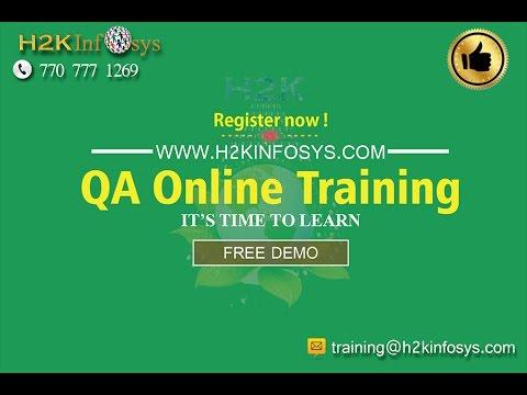 QA Online Training Free Demo Class   QA Tutorial for Beginners   QA Training Videos