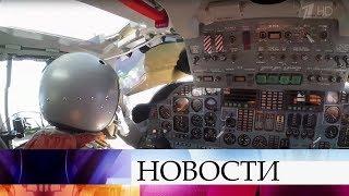 Российские стратегические ракетоносцы Ту-160 совершили тренировочный полет над Карибским морем.