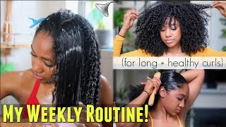 🚿My Weekly Natural Hair Regimen! (How I Refresh + Maintain EVERYDAY Definition)!  Long + Healthy