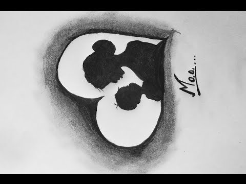 Mother's Day special drawing l mother and baby drawing l