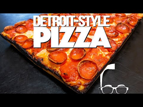 HOMEMADE DETROIT STYLE PEPPERONI PIZZA | SAM THE COOKING GUY
