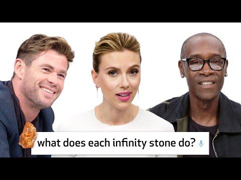 """هل تستطيع """"كابتن مارفل"""" هزيمة """"ثانوس""""؟ أبطال Avengers: Endgame يجيبون عن 50 سؤالا"""