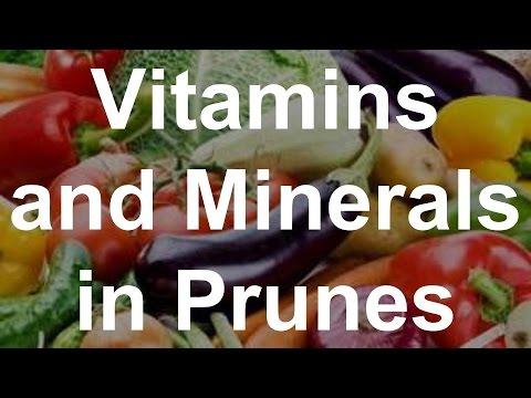 Vitamin và dưỡng chất trong mận khô