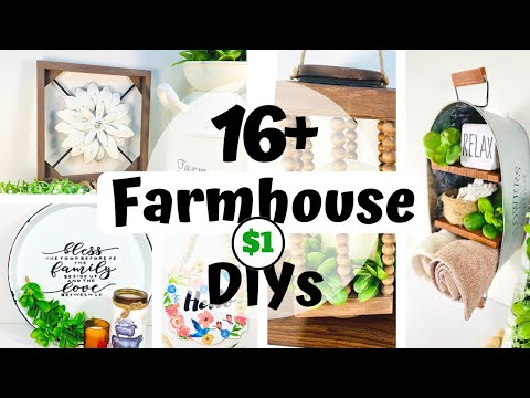 16+ Farmhouse Dollar Tree DIYs to Inspire you in 2021! High End Farmhouse Decor Ideas DIY Room Decor