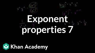Exponent Properties 7