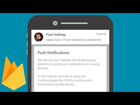 Push Notifications with Firebase Cloud Messaging and Cordova