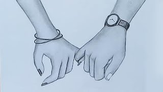 Holding Hands Pencil Sketch || Valentines Day Special