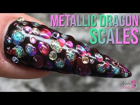 Metallic Dragon Scale Nail Design – Quick & Easy Tutorial