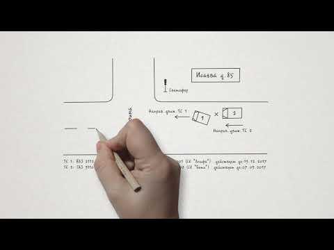 Как рисовать схему ДТП