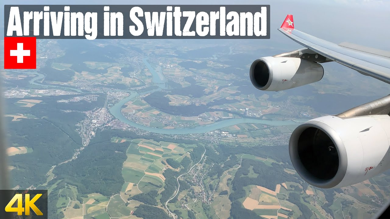 Arriving in Switzerland with Edelweiss Air Airbus A340