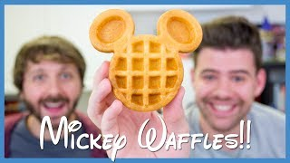 Mickey Mouse Waffles With Maxwell Glick!! ► JamesChats