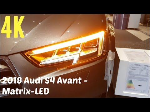 2018 Audi S4 Avant Matrix-LED - dynamischer Blinker [4K]