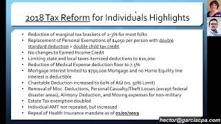 2018 cpa exam far statement of cash flows financial accounting and tax power hour 2018 tax reform explained by cpas hector garcia and jody padar fandeluxe Image collections