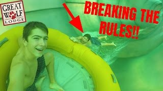 BREAKING THE RULES AT INDOOR WATERPARK!! Great Wolf Lodge Day 2