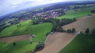 Flug mit der Drohne Hubsan h501S rund um die FlaRak Station Giggenhausen