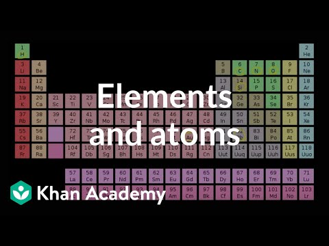 Elements and atoms (video) Khan Academy