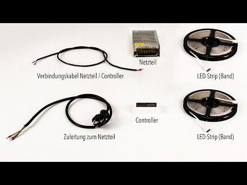 LED Strip / Lichtband 2 x 5m Set - Richtig anschließen / RGBW oder RGB
