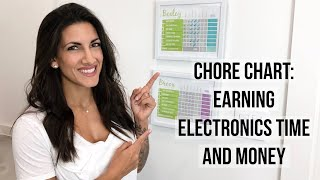 Chore Chart For Kids | Earning Electronics Time | Earning Money